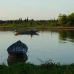visser op de Hoi An river