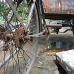 straattafereel (oude bakfiets)